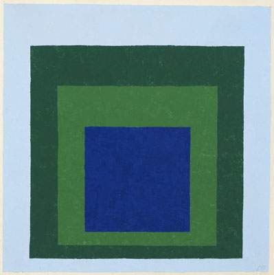 Homage to the Square: Blue & Green — Джозеф Альберс