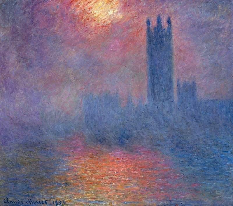 Вестминстерский дворец, Лондон. Пробивается солнце - Клод Моне
