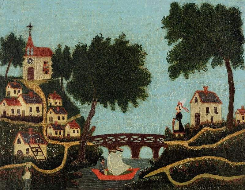 Landscape with Bridge — Анри Руссо