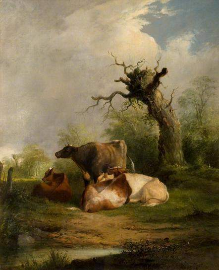 Landscape with Cattle — Томас Гейнсборо