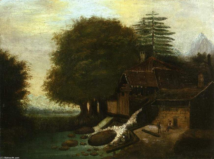 Landscape with Mill — Поль Сезанн