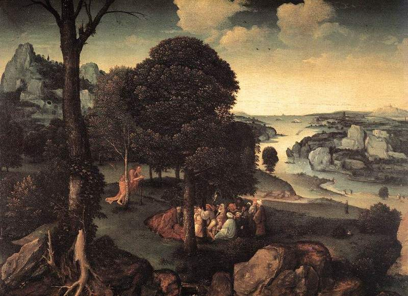 Landscape with St. John the Baptist Preaching — Иоахим Патинир