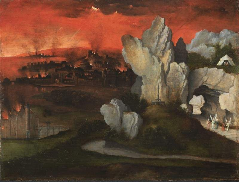 Landscape with the destruction of Sodom and Gomorrah — Иоахим Патинир