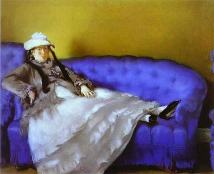 Madame Manet on a Blue Sofa — Эдуард Мане