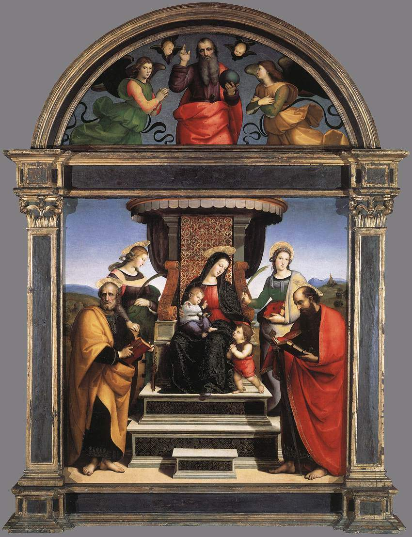 Madonna and Child Enthroned with Saints — Рафаэль Санти