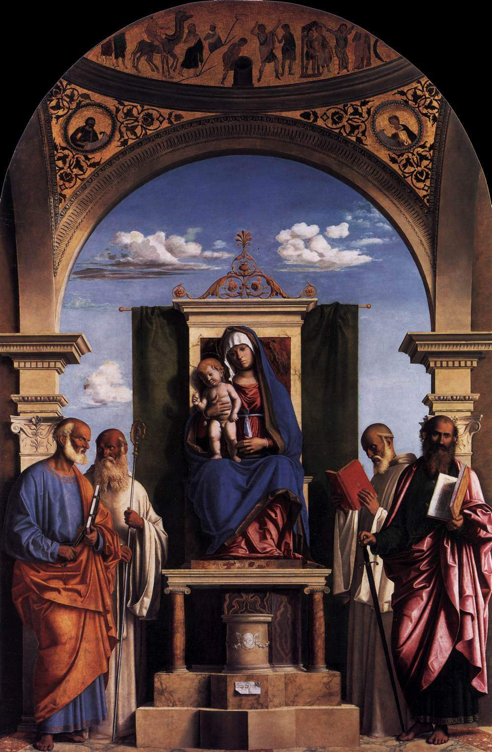 Madonna and Child Enthroned with Saints — Филиппо Липпи