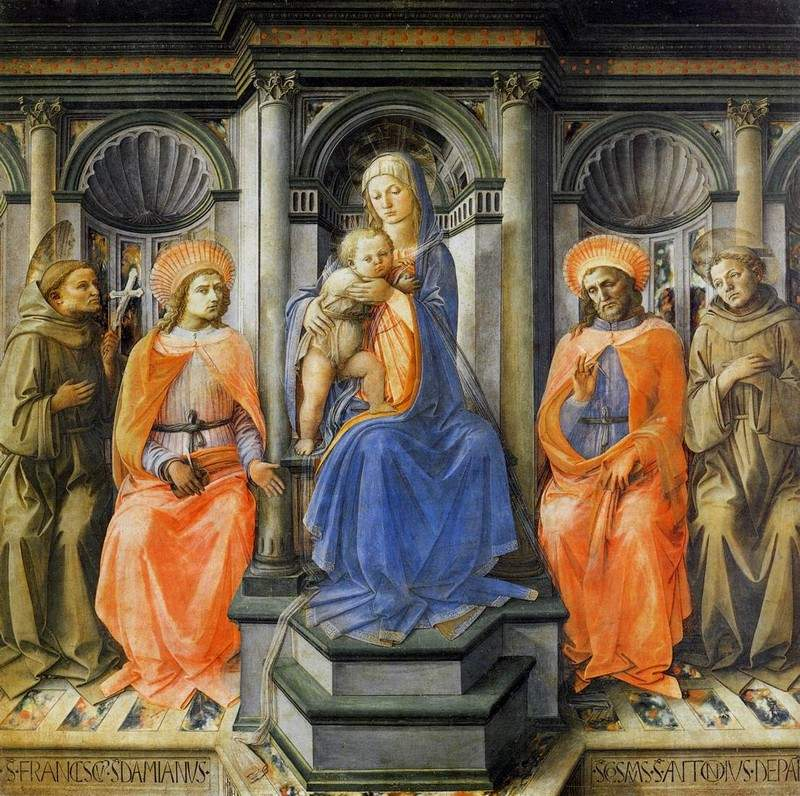 Madonna Enthroned with Saints — Филиппо Липпи