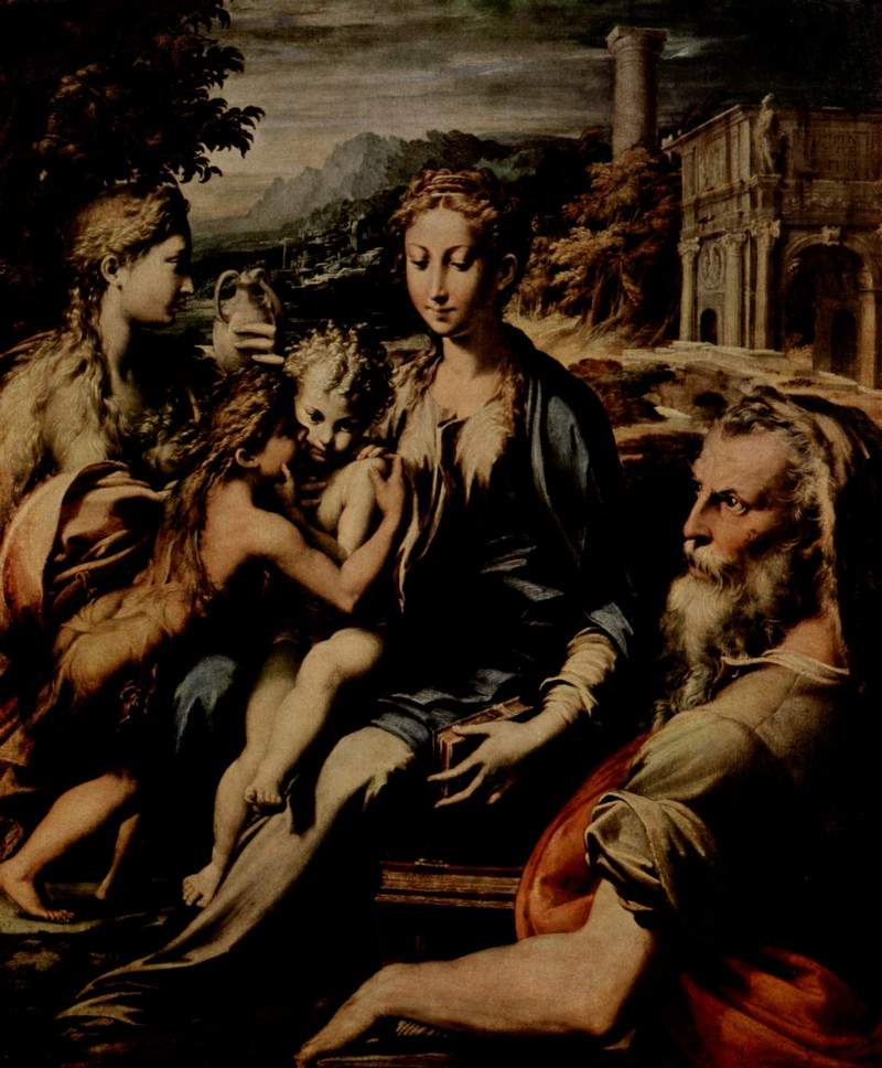 Madonna with Saint Zacharias — Пармиджанино