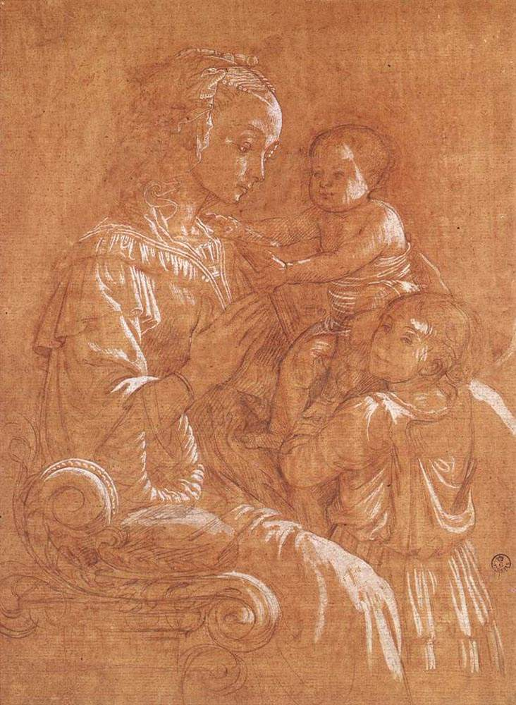Madonna with the Child and two Angels — Филиппо Липпи