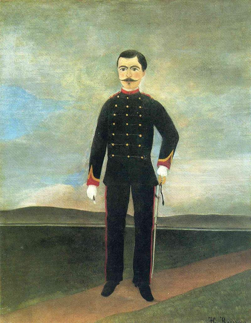 Marshal des Logis Frumence Biche of the 35th Artillery — Анри Руссо