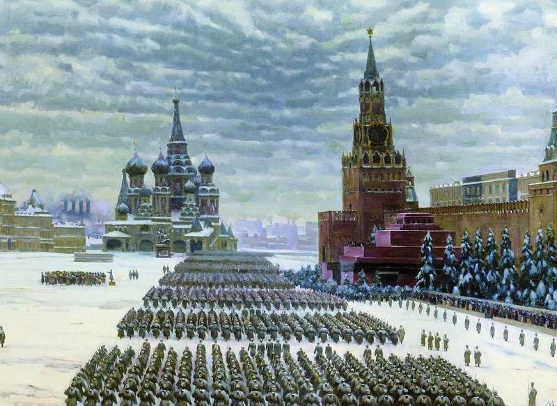 Military Parade in Red Square, 7th November 1941 — Константин Юон
