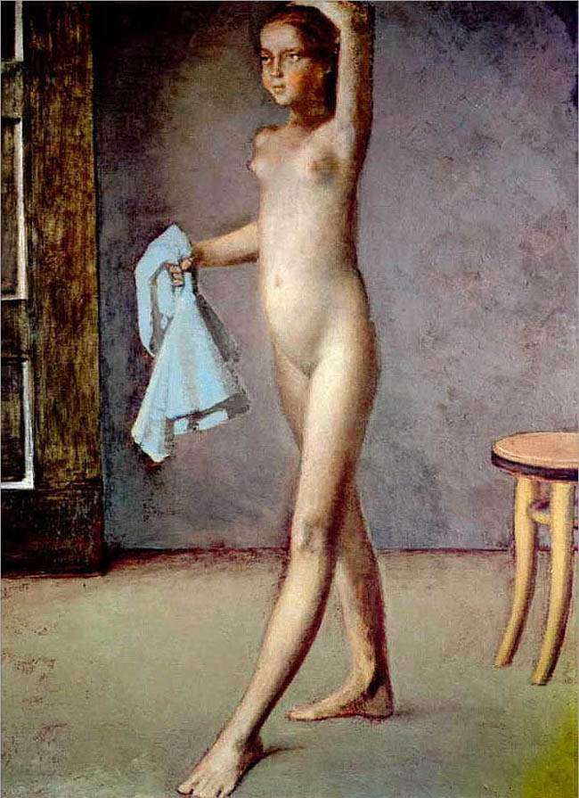 Nude with a Silk Scarf — Бальтюс