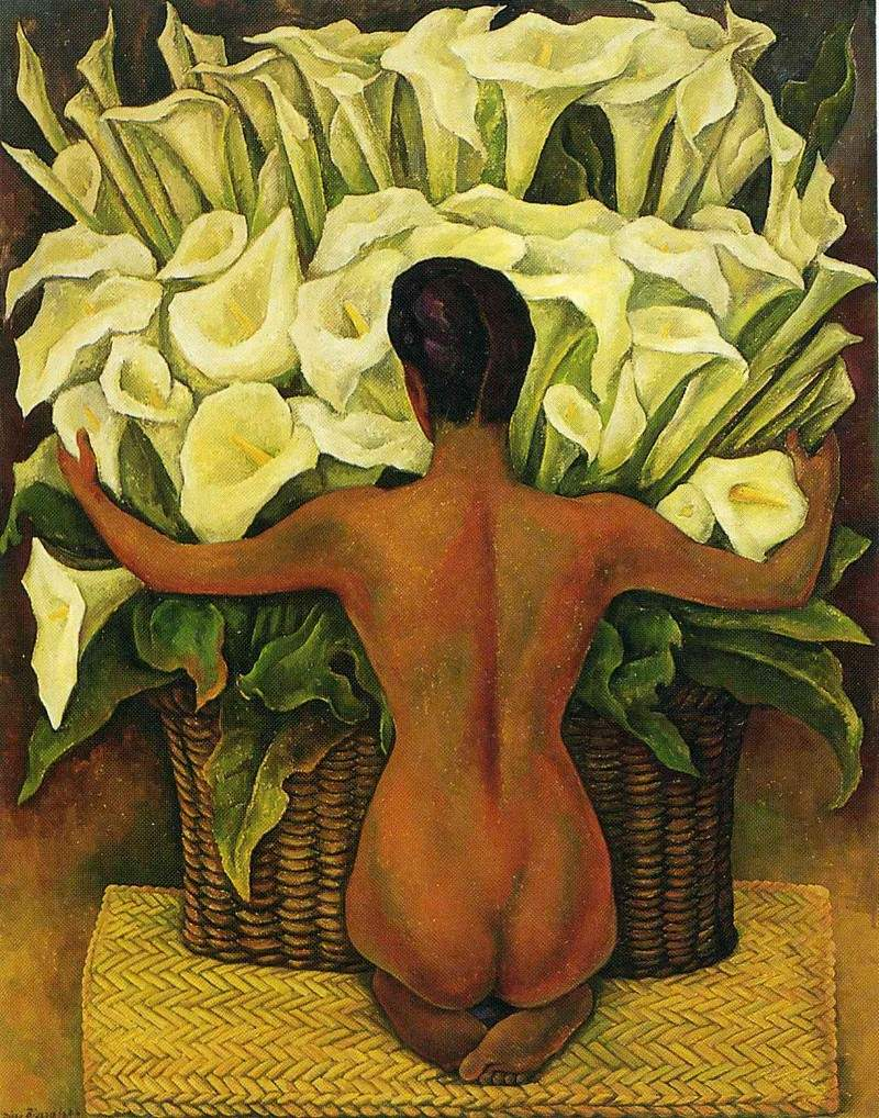 Nude with Calla Lilies — Диего Ривера