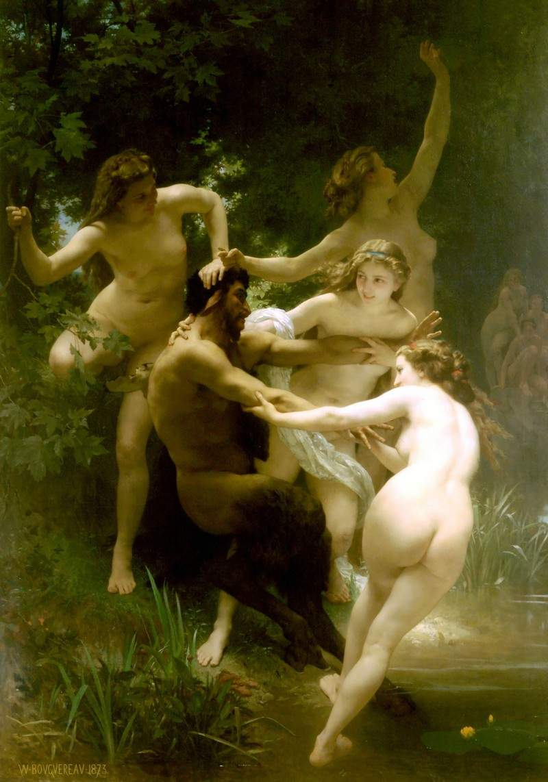 Nymphs and Satyr — Вильям Адольф Бугро