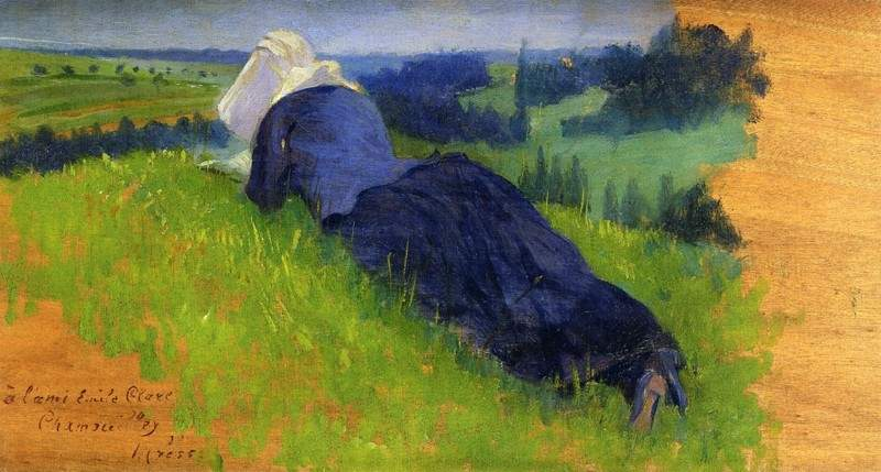 Peasant Woman Stretched out on the Grass — Анри Эдмон Кросс