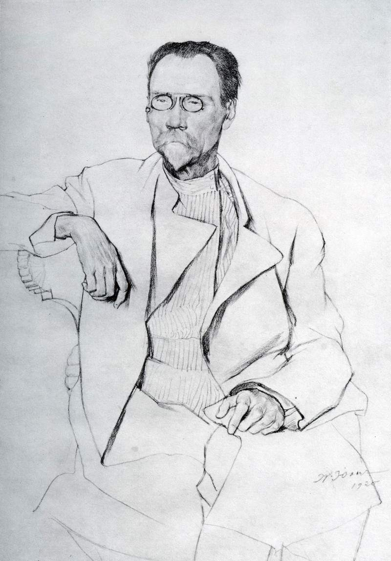Portrait of A. A. Bakhrushin — Константин Юон
