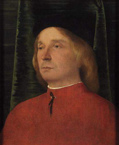 Portrait of a young man in red garment — Лоренцо Лотто