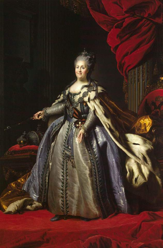 Portrait of Catherine II of Russia — Фёдор Рокотов