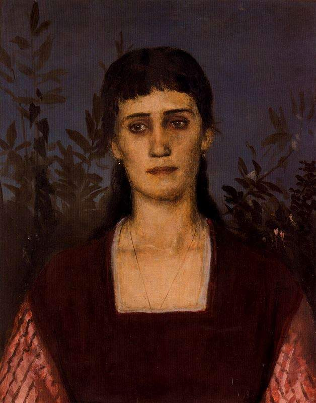 Portrait of Clara Bruckmann-Bocklin — Арнольд Бёклин