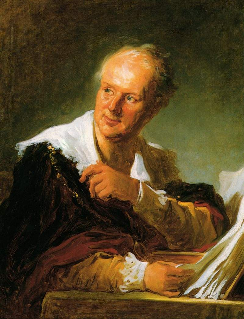 Portrait of Denis Diderot — Жан-Оноре Фрагонар