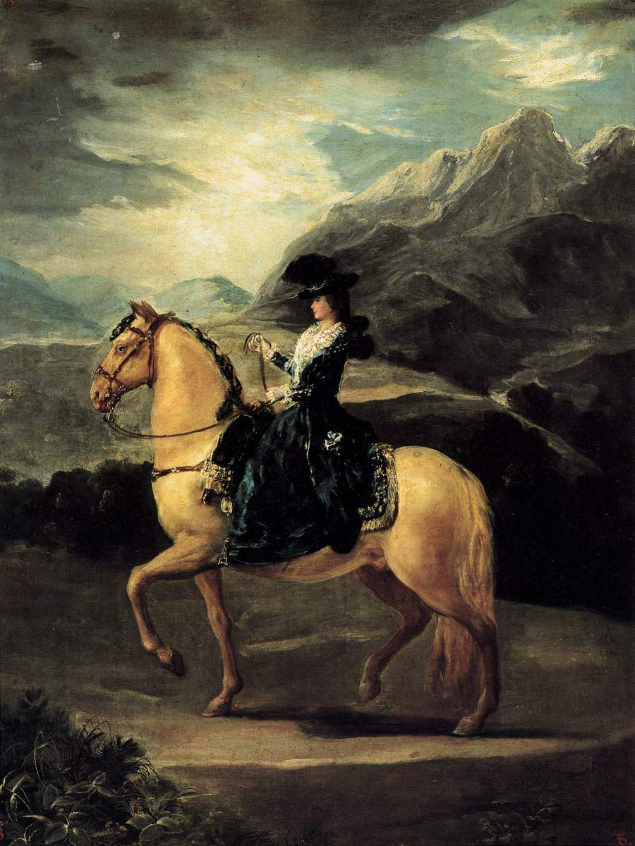 Portrait of Maria Teresa de Vallabriga on horseback — Франсиско де Гойя