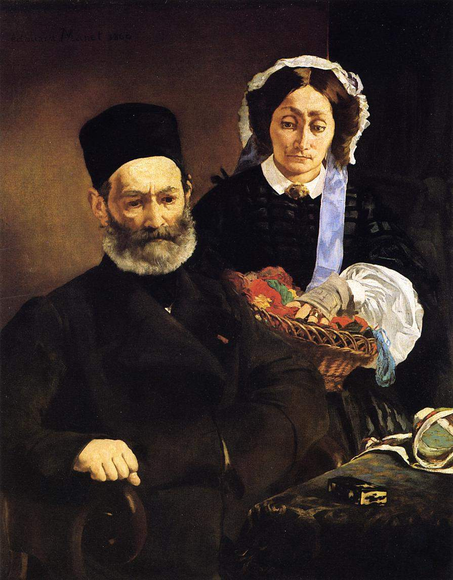 Portrait of Monsieur and Madame Auguste Manet — Эдуард Мане