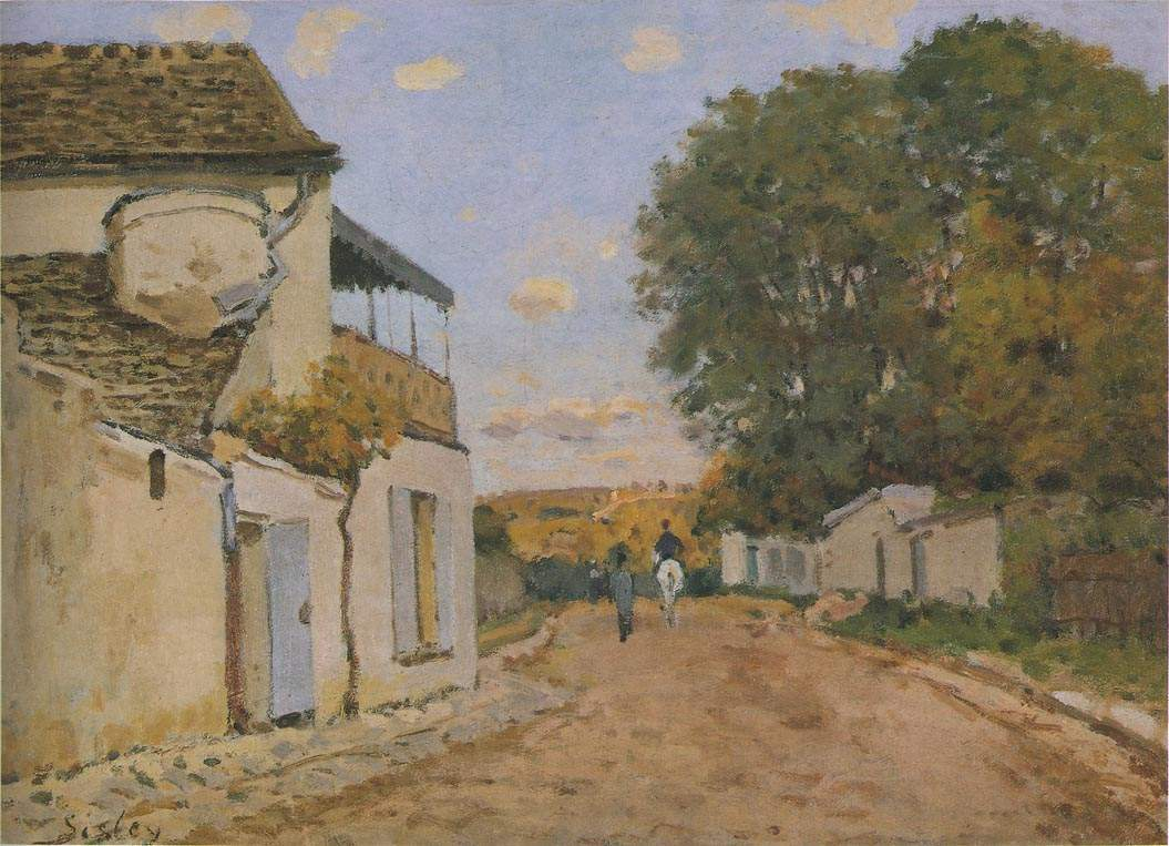 Princesse Street in Louveciennes — Альфред Сислей