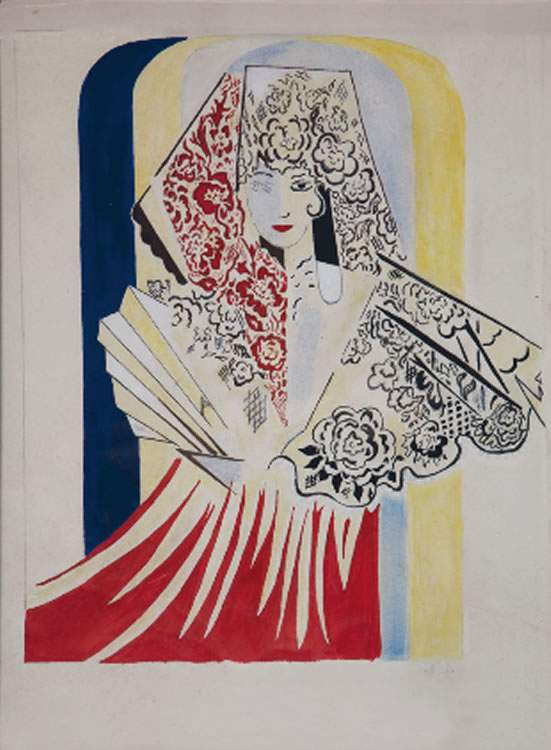 Project poster for the ballet by Manuel de Falla, El amor brujo — Наталья Гончарова