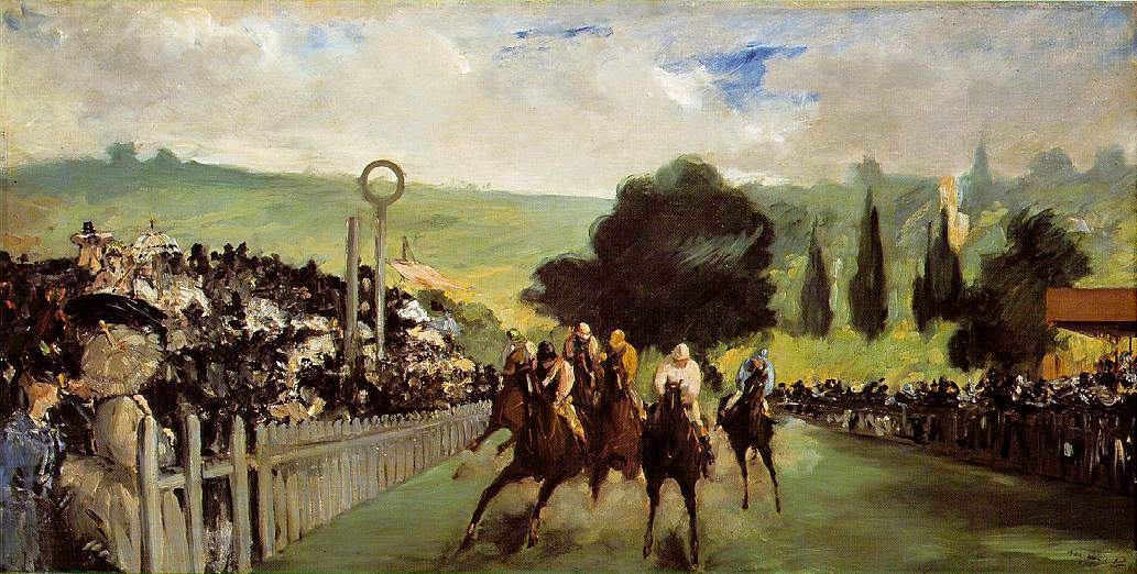 Races at Longchamp — Эдуард Мане
