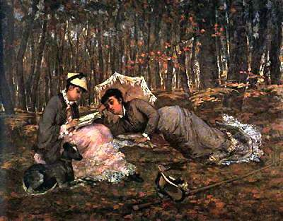 Reading in the Forest — Ева Гонсалес