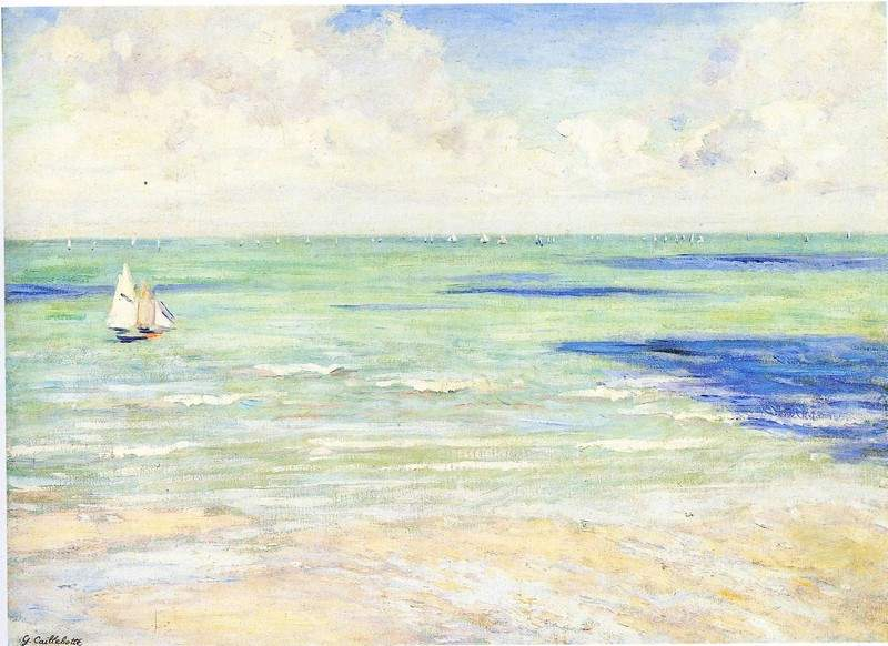 Seascape, Regatta at Villers — Гюстав Кайботт