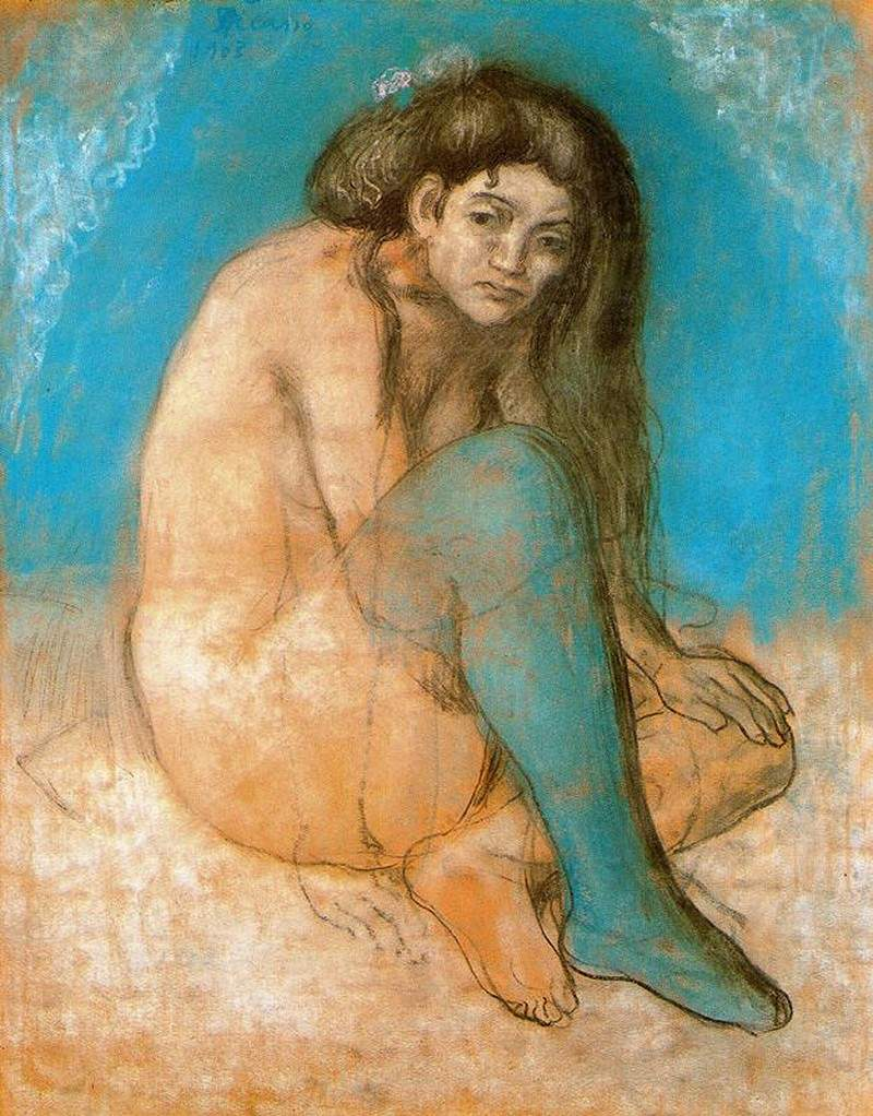 Seated female nude — Пабло Пикассо