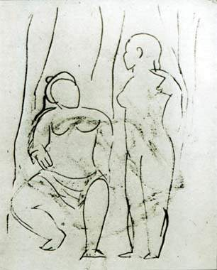 Seated nude and standing nude — Пабло Пикассо