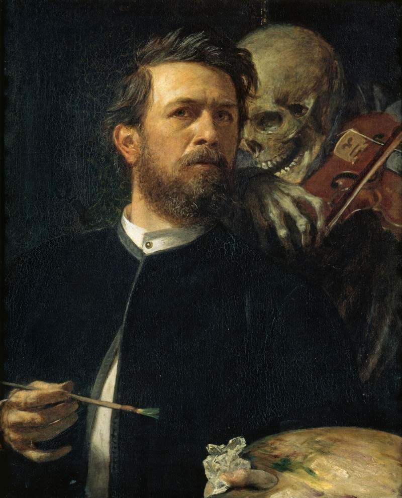 Self-Portrait with Death as a Fiddler — Арнольд Бёклин