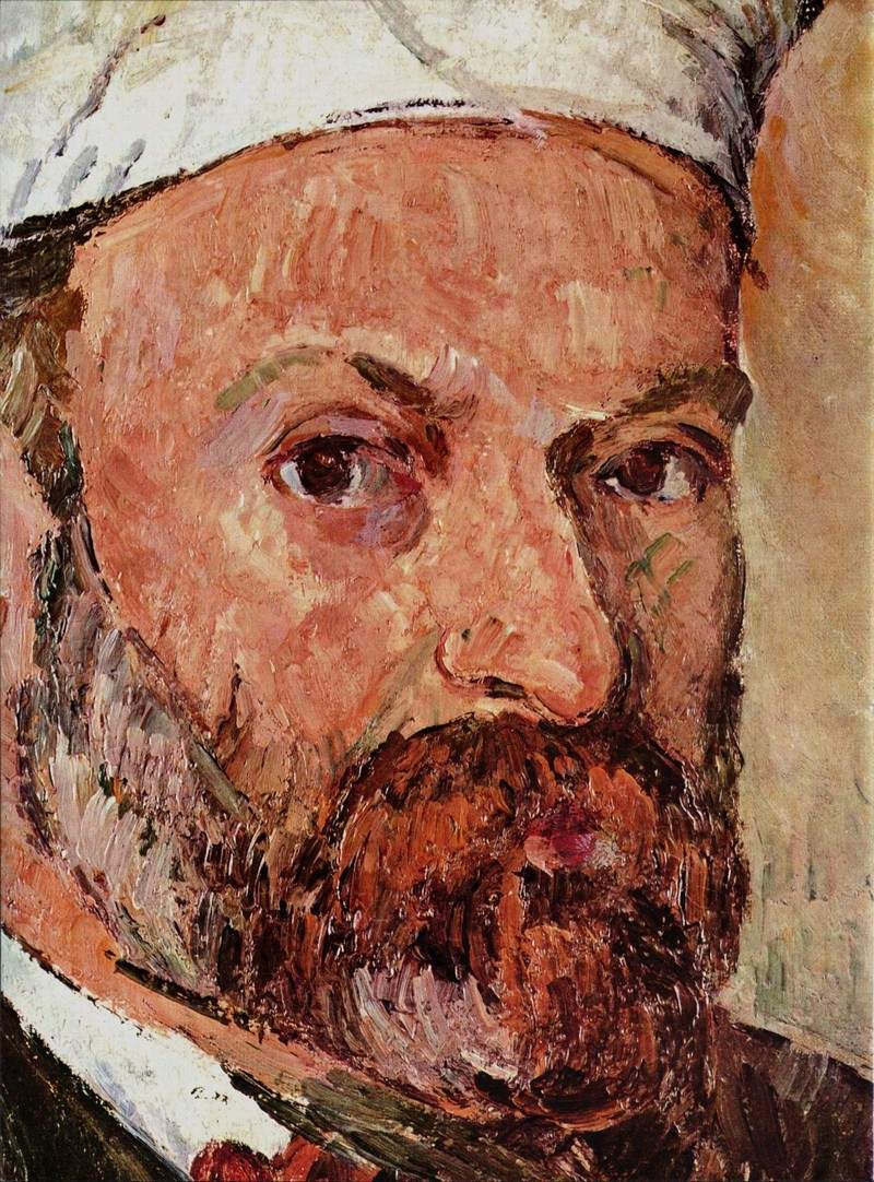 Self-portrait with white turbaned (detail) — Поль Сезанн