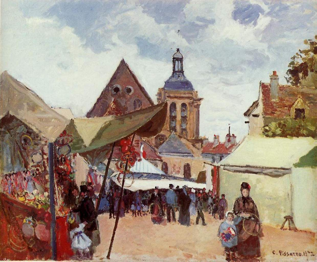September Fete, Pontoise — Камиль Писсарро