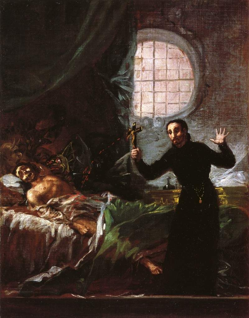 St. Francis Borgia Helping a Dying Impenitent — Франсиско де Гойя