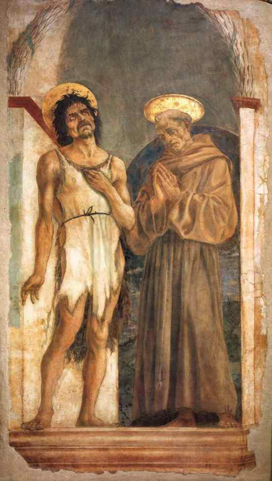St. John the Baptist and St. Francis of Assisi — Доменико Венециано