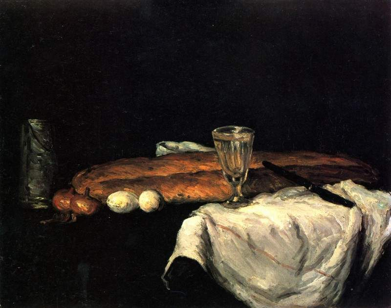 Still Life with Bread and Eggs — Поль Сезанн