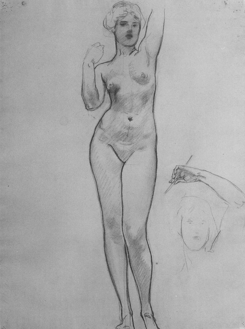 Studies of Aphrodite for Aphrodite and Eros — Джон Сингер Сарджент