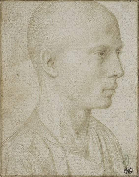 Study of a Bust of Yyoung Boy with Shaved Head — Герард Давид