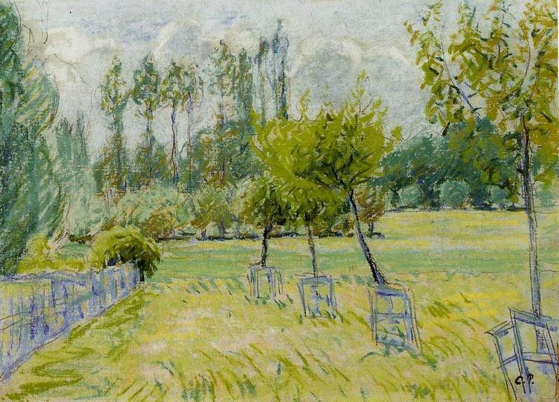 Study of Apple Trees at Eragny — Камиль Писсарро