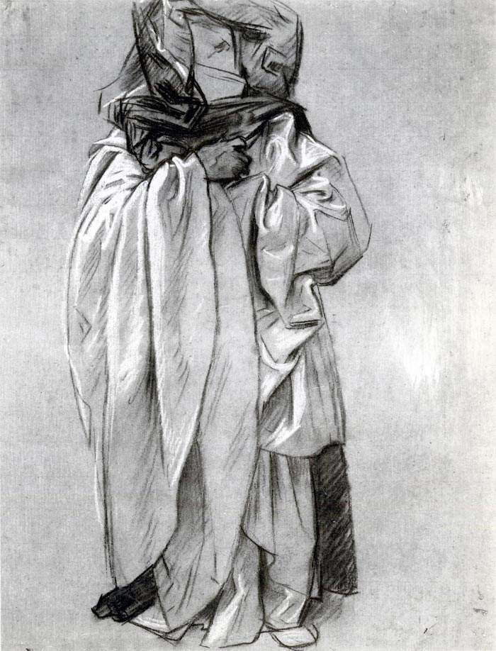 Study of Ezekiel for Frieze of the Prophets — Джон Сингер Сарджент