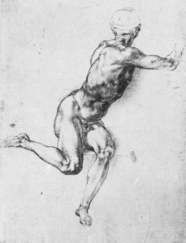 Study of figure to 'Battle of Cascina' — Микеланджело