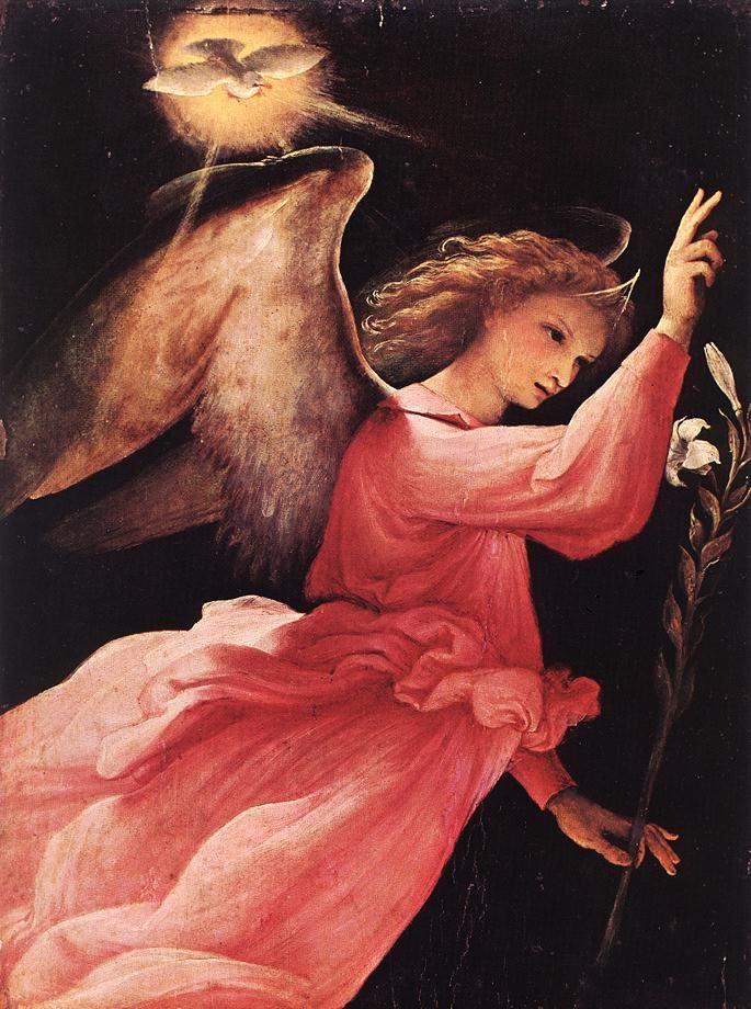 The Angel of the Annunciation — Лоренцо Лотто