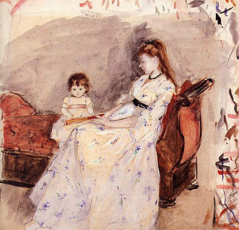 The Artist's Sister Edma with Her Daughter Jeanne — Берта Моризо