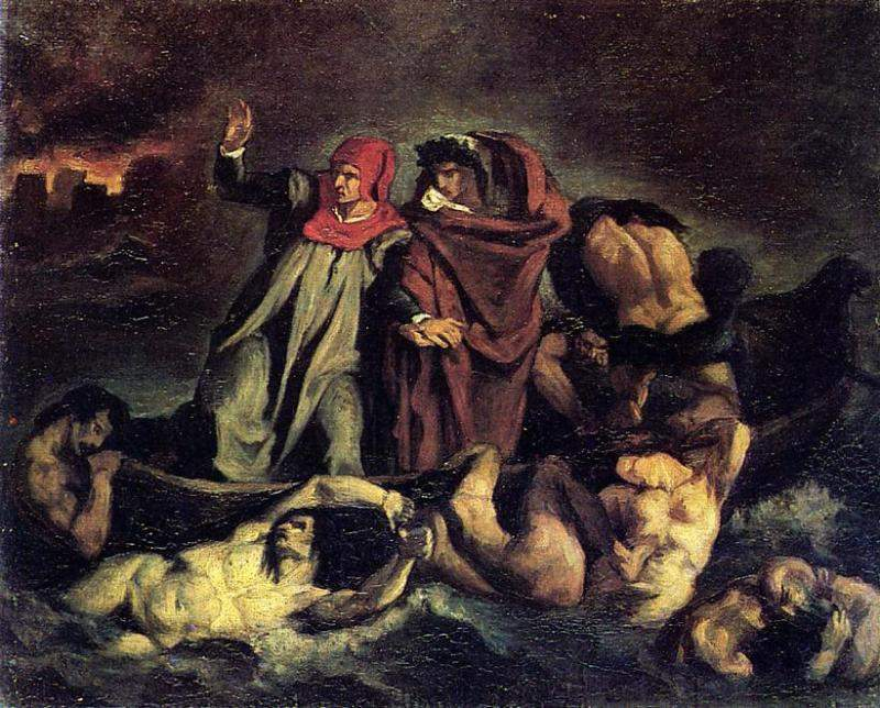 The barque of Dante (Copy after Delacroix) — Эдуард Мане