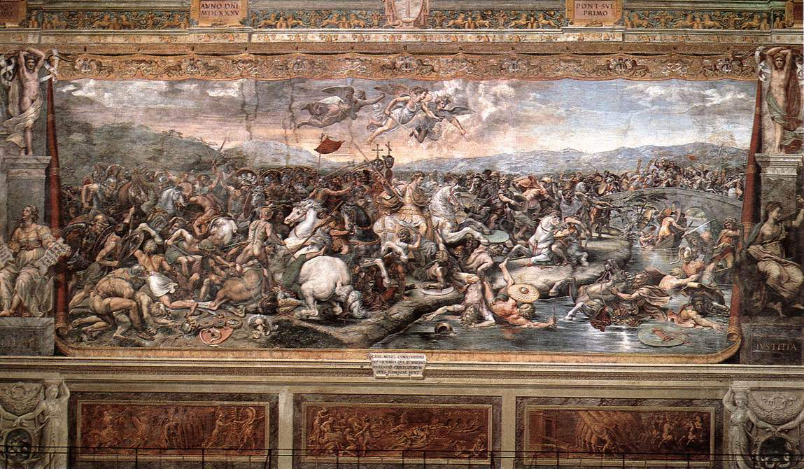 The Battle at Pons Milvius — Рафаэль Санти