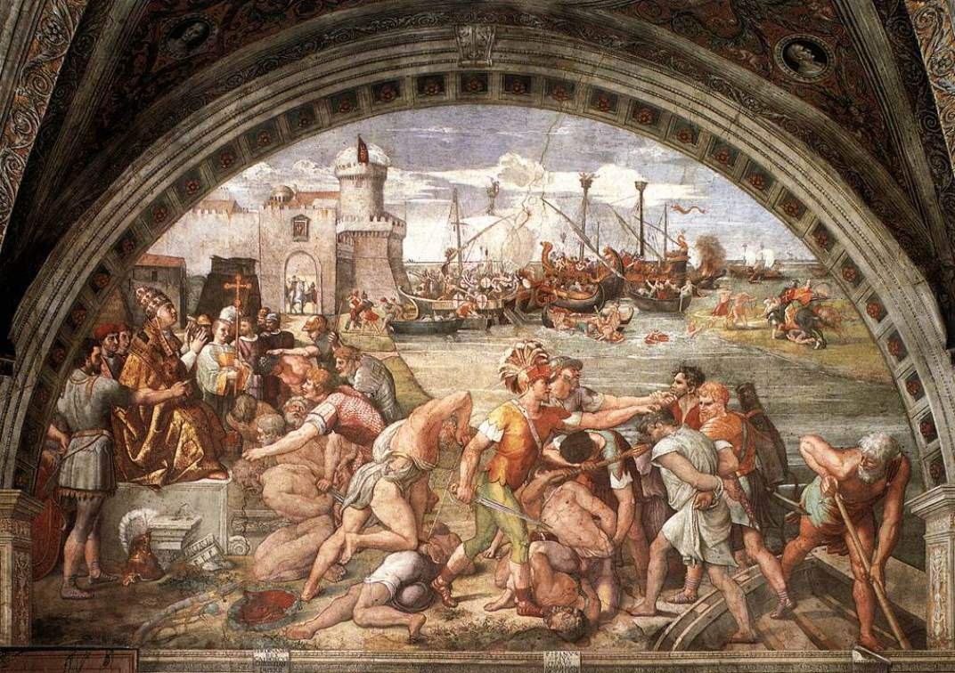 The Battle of Ostia — Рафаэль Санти