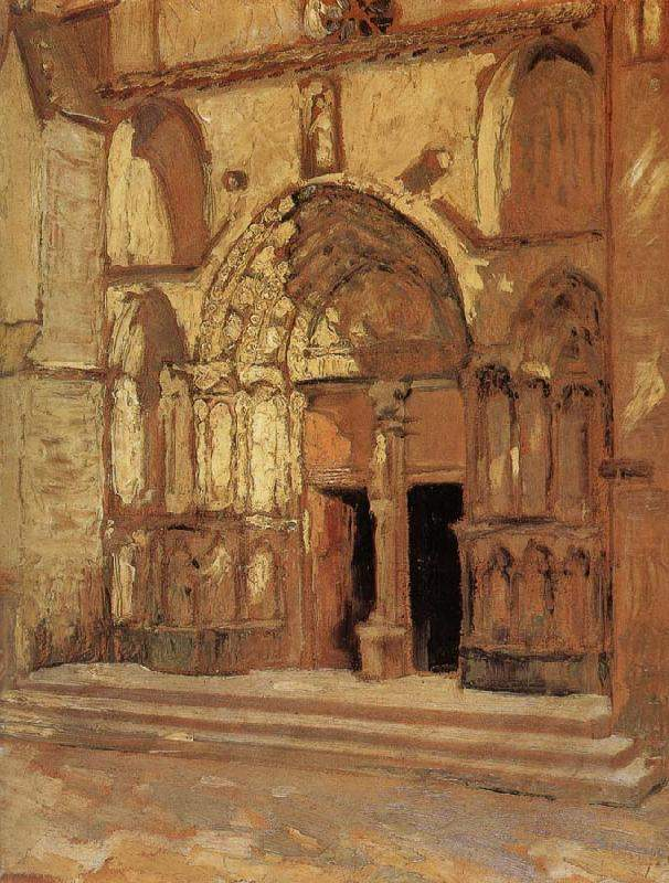 The Church doorway — Грант Вуд